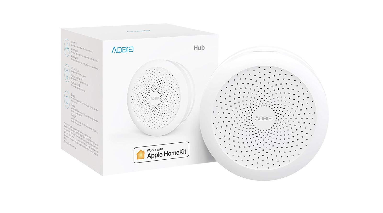 Aqara Hub Smart Home Hub and Alarm Works with Apple Homekit Siri + Free US Plug, in USA Stock