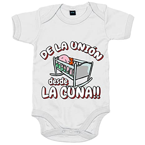 Body bebé De la Unión Almería desde la cuna fútbol - Blanco, 6-12