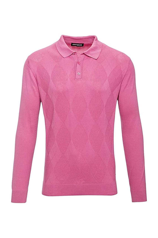 Cortigiani Polo Neck Pullover ALFONSO, Color: Cerise