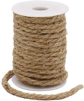 Tenn Well 33 Feet 6mm Jute Rope Natural Jute Twine for Gardening Decorating Bundling DIY /& Arts Crafts Brown