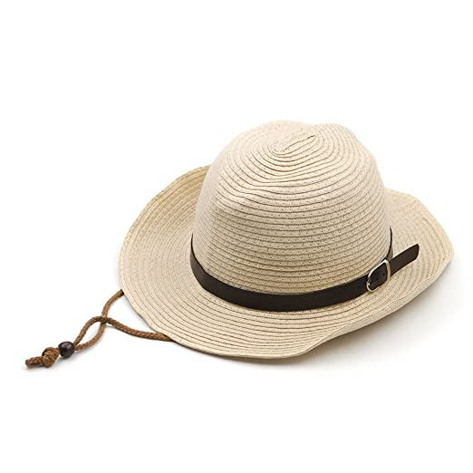 fed77e7c6 Amazon.com: Opromo Kids Western Style Cowboys Cowgirls Straw Hat ...