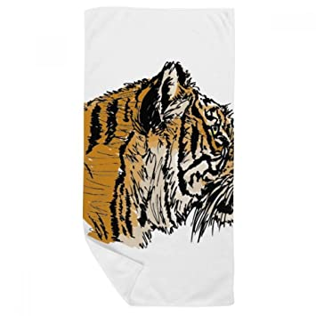 DIYthinker La Cabeza del Tigre Primer Plano Rey Animal Salvaje Toalla de baño Suave paño de Facecloth 35X70Cm: Amazon.es: Hogar