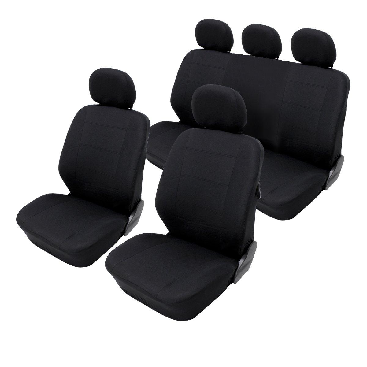 ECD Germany Coprisedili auto universali particulari coperture sedile auto universale impermeabili nere lavabili