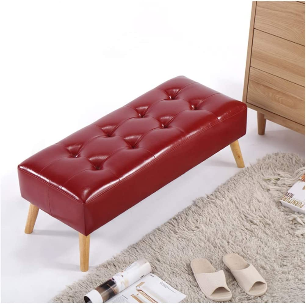 CHLFSFD Imitation leather sofa stool European shoe bench ...