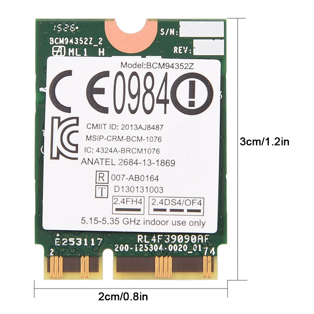 Fosa BCM94352Z NGFF 802 11ac Dual Band Wireless WiFi Card