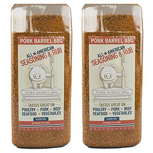 American Bbq Rub - Pork Barrel BBQ Bulk All American Seasoning Mix, 22 Ounce 2 Pack