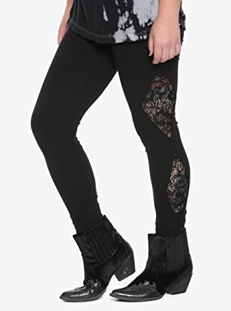 7e2792e0f3bb00 Image Unavailable. Image not available for. Color: Blackheart Black Lace  Leggings