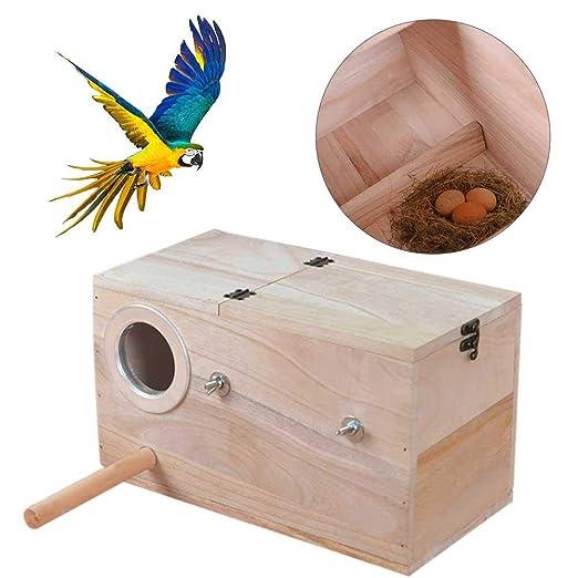 libelyef Nido De Cria para Aves Caja De Cría para Pájaros Caja De ...