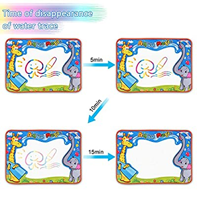 Large Aqua Magic Doodle Mat, Water Doodle Mat, Water Drawing Mat Pad with 2 Water Pens Kids Educational Toys Boys Girls Chrismas Birthday Gift : Baby