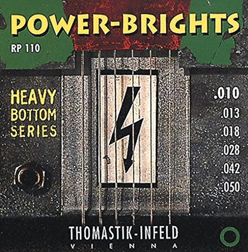 11 Power-Brights Heavy Bottom Medium Top Electric Guitar String Set ()