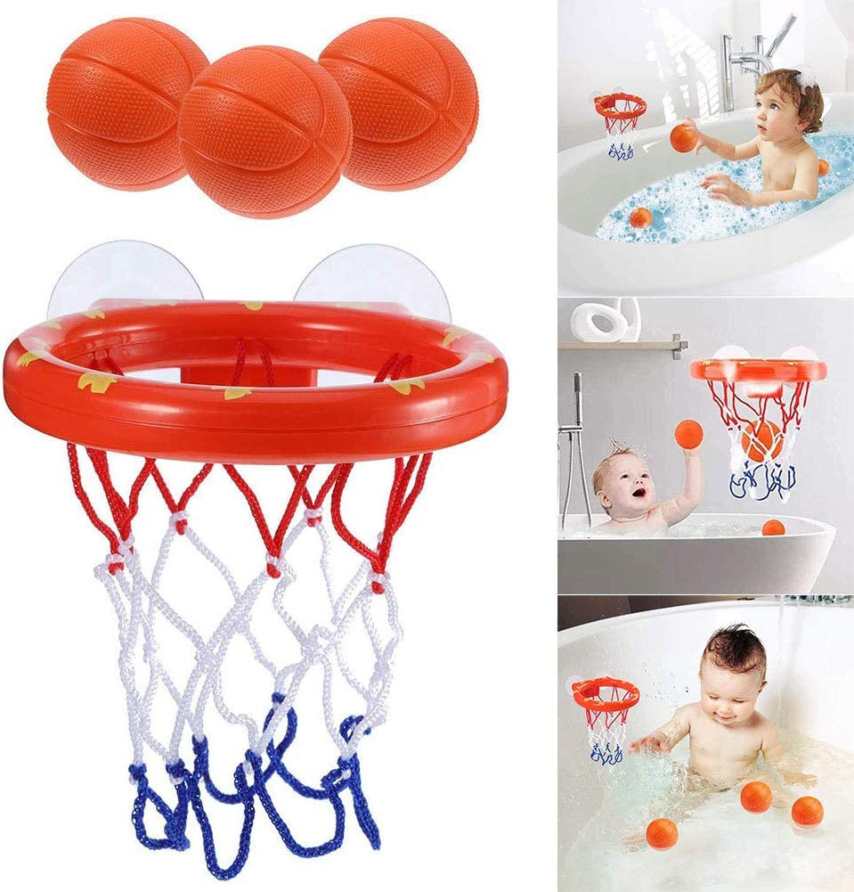 Dastrues Bath Toys Kids Basketball Hoop Bathtub Water Play Set Baby Bath Toys Kids Bath Toys for Baby Girl Boy Bath Toys Basketball Hoop for Kids & Toddler