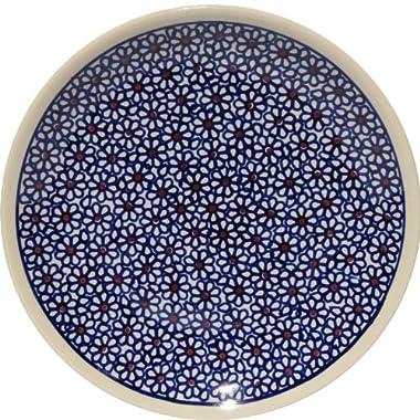 Polish Pottery Plate 7.5 Inch From Zaklady Ceramiczne Boleslawiec #Gu-814-120 Traditional Pattern, 7.5 Inch Diameter