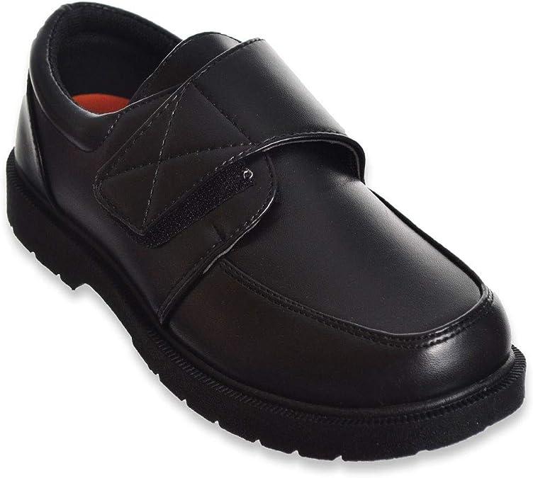 Danuccelli Boys Memory Foam School Uniform Shoe Black Buckle 8 M US Big Kid