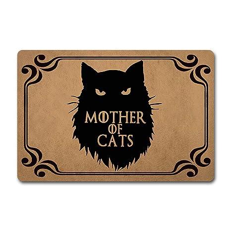 D Felpudo de Entrada diseño Divertido de la Madre de los Gatos, con