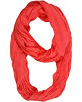 Feria Mode Silky Scrunch Wrinkled Look Infinity Circle Ring Scarf