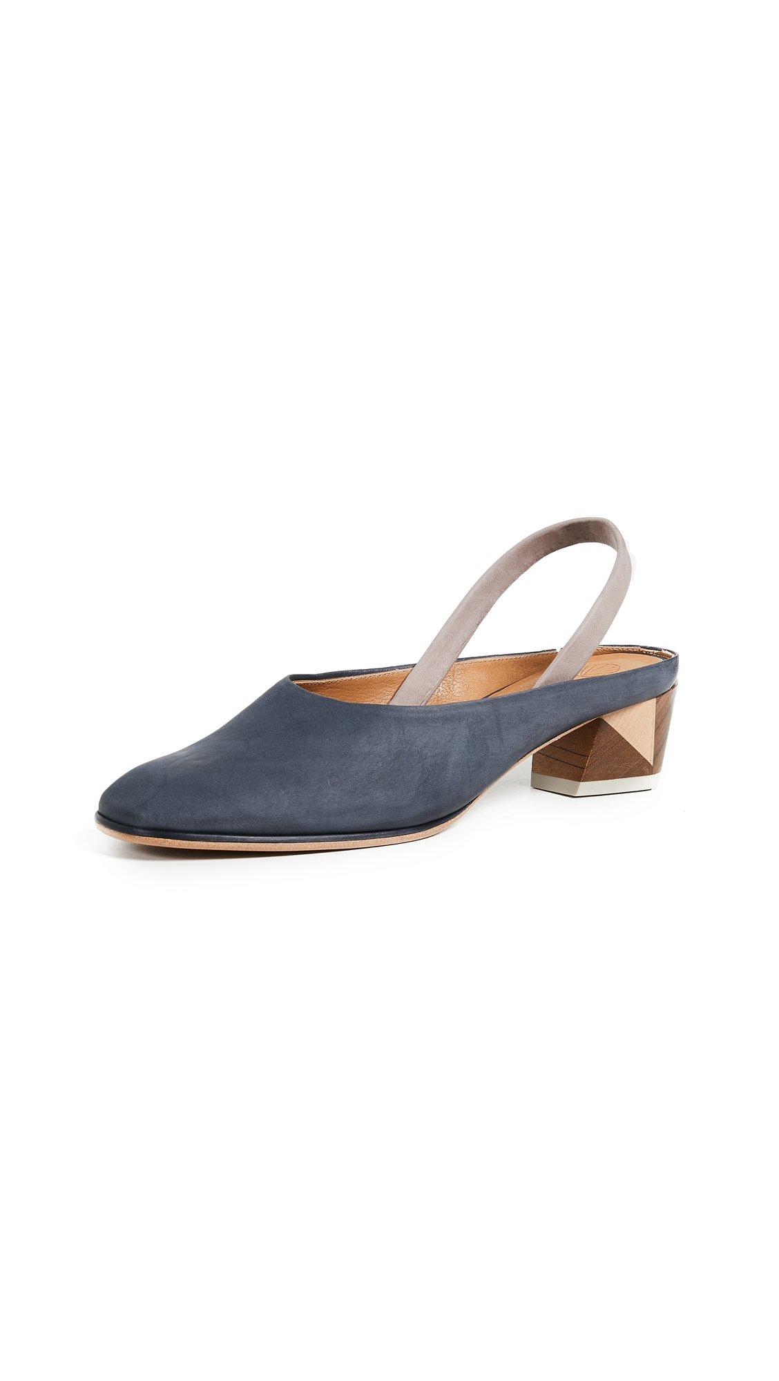Coclico Shoes Women's Evil Tea Slingback Pumps, Black, 38.5 EU (8.5 B(M) US Women)