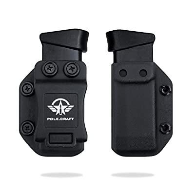 KYDEX MAGAZINE CARRIER COMPATIBLE WITH 9//40 DOUBLE STACKED MAGS FOR IWB//OWB