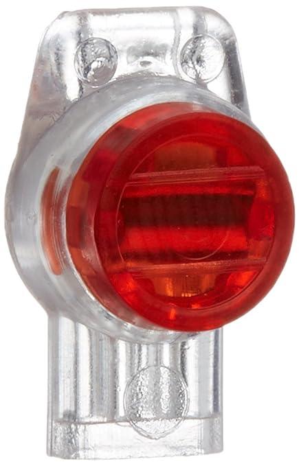 Rc Junter DBR3 Pack de 10 Conectores estancos para 3 Cables eléctricos, Rojo, 12x8x2