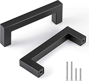 CZC HOME 10 Pack 4 Inch Cabinet Pulls, Stainless Steel Drawer Handles, 3.5