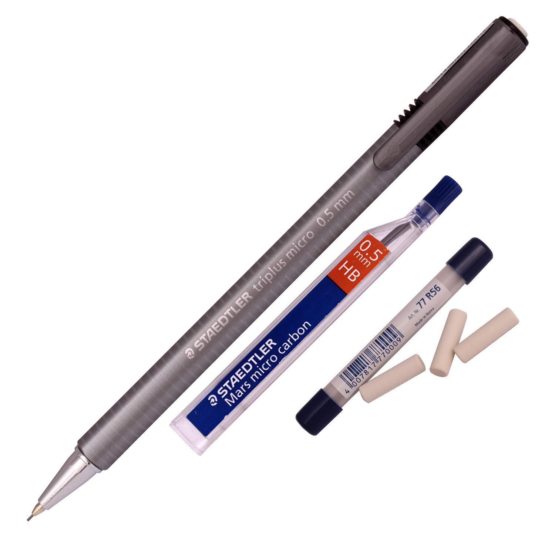 Staedtler シャープペンシル トリプラス マイクロ774 0.5mm (カーボン芯 チューブ1本+詰め替え消しゴム) B07PSLNJG4