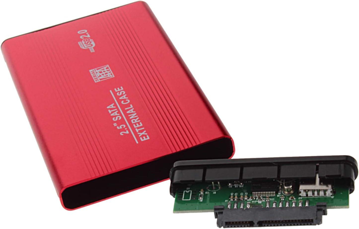 USB 2.0 2.5 Inch Shockproof USB 2.0 Aluminum External Storage SATA Hard Drive HDD Enclosure Box Case