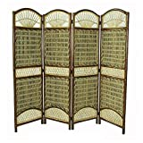 Home Accents Seagrass Tropical 4 Panel Screen Divider