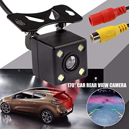 FidgetFidget 170 Degree Car Rear View Camera Parking Assistance CCD LED Backup Light # H-Q