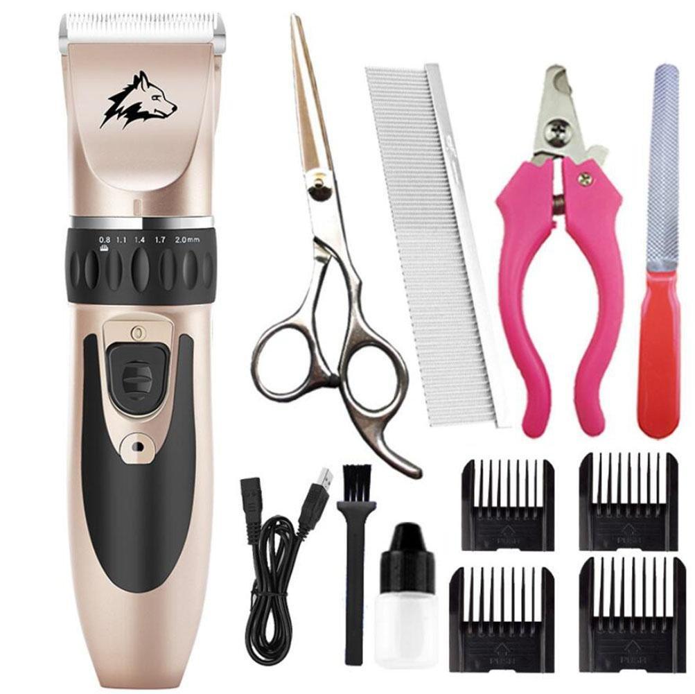 ... del perro del gato Cortador eléctrico del removedor de las podadoras de pelo del animal doméstico Cortador de la preparación Máquina del corte de pelo ...