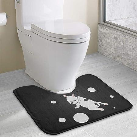 Hoklcvd French Bulldog Yoga U-Shaped Toilet Floor Rug Non ...
