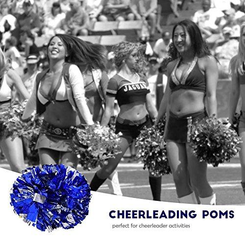 Choix Bleu Compétition De Pompons Couleurs Cheerleading 8 argent Main Paire pom Scolaire Dilwe Boule Plastique Girl Fleurs Pour En or Sport 1 argent Aérobic Pom Aux Yw1nZqx7S