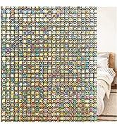 Coavas Window Film Privacy Rainbow Effect Window Sticker Decorative Translucent Glass Tint Static...