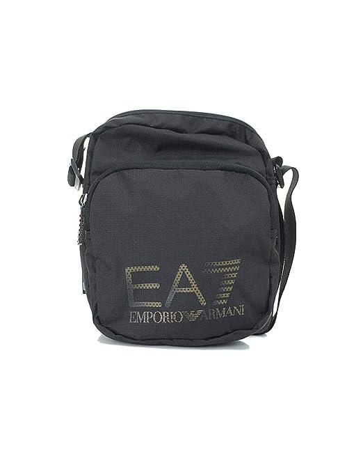 5070be930f1ac Emporio Armani Borsa tracolla Borsello EA7 Uomo 275663 BLU o NERO - Nero   Amazon.it  Abbigliamento