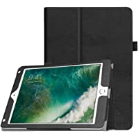Fintie Funda para iPad 9.7 pulgadas 2017/iPad Air 2/iPad Air – [Protección de esquina] Premium PU piel Folio Smart Cover con apagado automático/encendido para iPad 9.7 en 2017 Release, iPad Air 1 2, Negro clásico