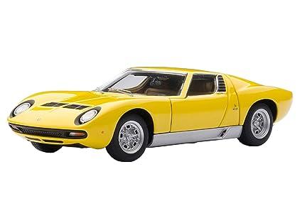 Amazon Com Autoart 1 43 Lamborghini Miura Sv Yellow Japan Import