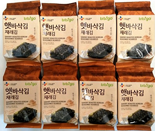 CJ Premium Roasted Seaweed Snack 5g -(Pack of 8)