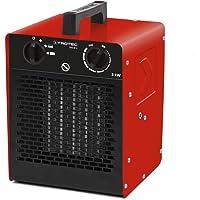 Trotec seramik ısıtıcı, elektrikli ısıtıcı, TDS 10 C, 2000 Watt'a kadar çok kademeli sıcaklık ayarı (2 kW) termostatlı inşaat ısıtıcısı