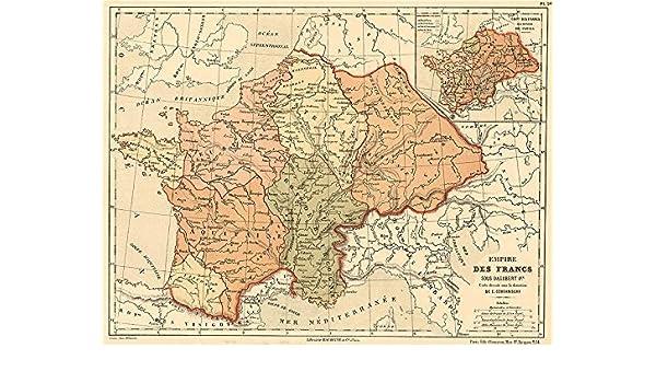 Amazon.com: FRANKISH EMPIRE/Kingdom under Dagobert I. Francia ... on democratic republic of the congo map, kingdom of burgundy map, zulu kingdom map, visigothic kingdom map, war of the spanish succession map, ayutthaya kingdom map, empire of japan map, kingdom of france flag, france on world map, kingdom of france 1789, province of georgia map, vichy france map, russian kingdom map, union of soviet socialist republics map, the kingdom of franks map, frankish kingdom map, kingdom of denmark map, duchy of burgundy map, confederation of the rhine map, grand duchy of tuscany map,