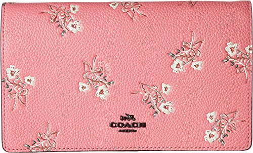 COACH Women's Floral Bow Fold-Over Crossbody Clutch Bp/Bright Pink One Size by Coach