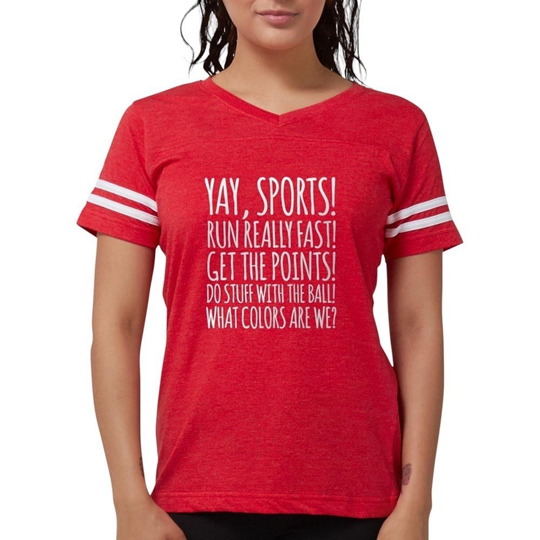 Amazon.com: CafePress Yay Sports! T-Shirt - Womens Football Shirt ...