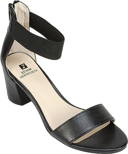 White Mountain Womens Elixir Open Toe Ankle Strap Classic Tan/Smooth Size 7.0