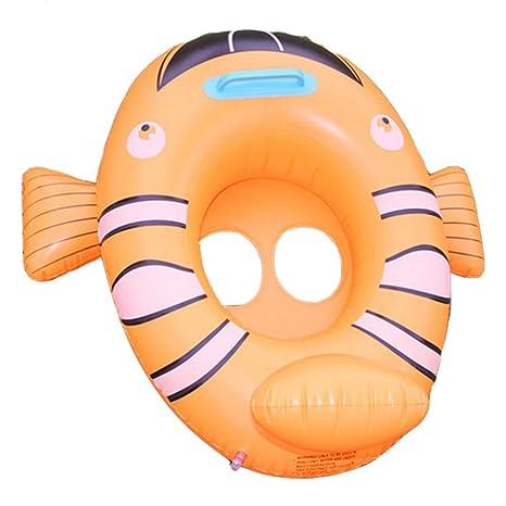 Desconocido Hinchable de dibujos animados niños agua taxis juguete flotador con asa de pez payaso