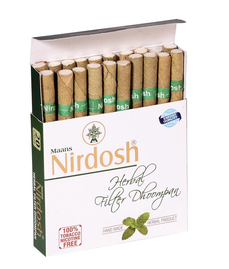 NIRDOSH Herbal No Nicotine & Tobacco Cigarettes[With Filter] - 5 Packs(20 Cigarettes Per Pack) by Nirdosh