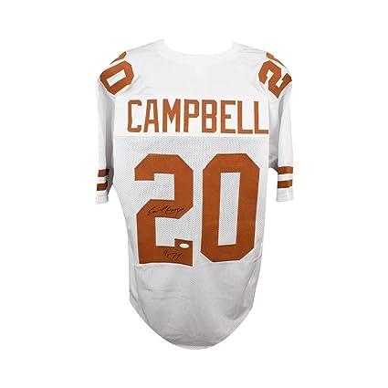 low priced a6b64 e7385 Earl Campbell HOF Autographed Texas Longhorns Custom White ...