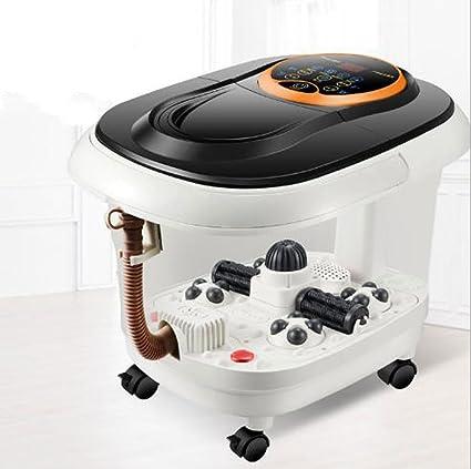 Masaje y relajac Masajeadores eléctricos para pies Calentador de pies mojado vibrante Baño Spa Masajeador Rodillo