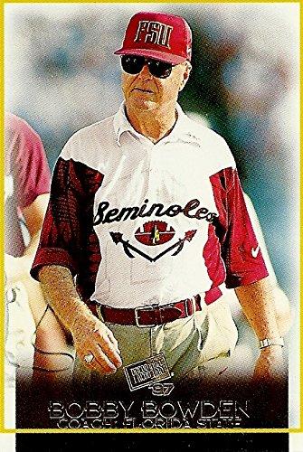 BOBBY BOWDEN FLORIDA STATE HEAD COACH - 1997 PRESS PASS FOOTBALL CARD (FLORIDA STATE SEMINOLES) FREE - Shipping Coach