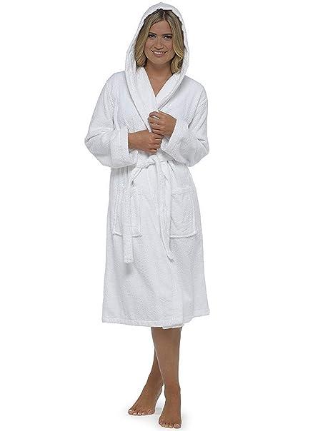 CityComfort Señoras Robe Luxury Terry Toweling algodón bata albornoz Mujeres altamente absorbente mujeres con capucha y