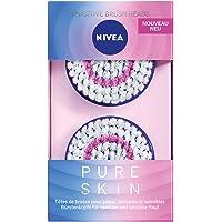 NIVEA Pure Skin Tête de brosses pur skin Peaux sensibles (1 x 2 têtes), Lot de 2