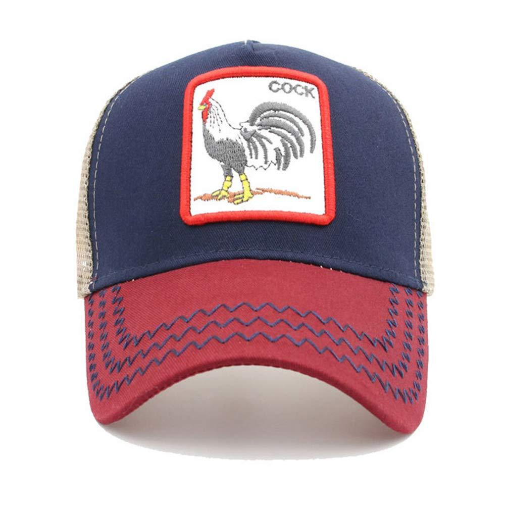 DDU VANKER Baseball Cap Mesh Trucker Hat Breathable Adjustable Durable for Outdoor Animal