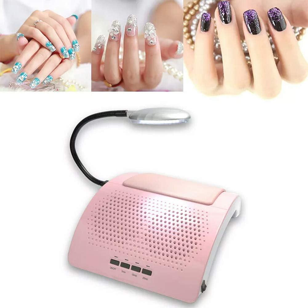 Aspiradores de Polvo de Uñas para Manicura y Pedicura Herramienta Profesional con LED Luz Colección de polvo Clavo Art Herramientas,Pink: Amazon.es: Belleza