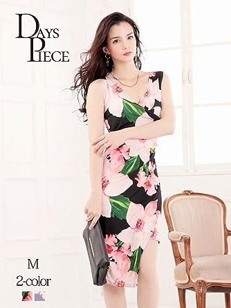 1002e95312155 (リューユ) Ryuyu キャバドレス キャバ ドレス キャバクラ キャバワンピース パーティードレス DaysPiece 花柄